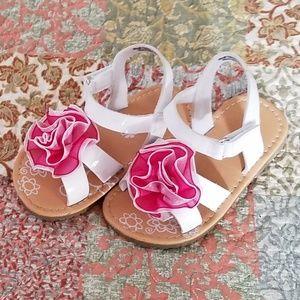 Petalia Girls Sandals Pink/White/Flower